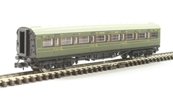 2P-012-004 Maunsell first class corridor 7670 in SR olive green