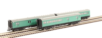 2P-012-551 Pack of three Maunsell coaches - Set 392 - brake third, compartment third and brake third in BR green