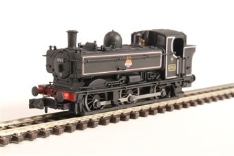 2S-007-018D Class 57xx Pannier 0-6-0PT 8763 in BR lined black with early crest and later cab - DCC fitted