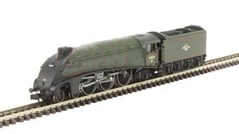 """2S-008-006D Class A4 steam locomotive 60029 """"Woodcock"""" in BR green with late crest. DCC Fitted"""
