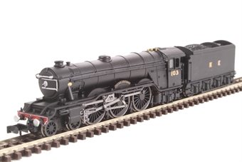 """2S-011-002 Class A10 4-6-2 103 """"Flying Scotsman"""" in LNER wartime black"""