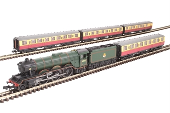 "2S-011-004 Class A3 4-6-2 60103 ""Flying Scotsman"" in BR green with early emblem with four Gresley teak coaches in crimson & cream liver"