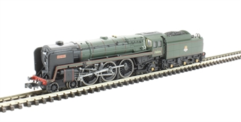"2S-017-003D Class 7MT Britannia 4-6-2 70015 ""Apollo"" in BR green with early emblem. DCC Fitted"