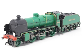 30-165Loco-PO Class N 2-6-0 1854 in SR malachite green - split from 30-165 set - Pre-owned - detailed with route discs, replacement box