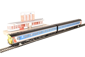 30-430 Capital Commuter train pack with Class 416 in Network SouthEast and low relief station building