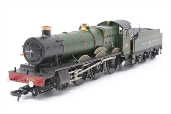 """30-525loco-PO03 Class 49xx 'Hall' 4-6-0 4965 """"Rood Ashton Hall"""" in Great Western green - split from 30-525 set - Pre-owned - , damage to tender hand brakes, loose pony truck axle, loose tender details, replacement box"""