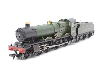 """30-525loco-PO06 Class 49xx 'Hall' 4-6-0 4965 """"Rood Ashton Hall"""" in Great Western green - split from 30-525 set - Pre-owned - Damage to handbrake on tender, replacement box"""