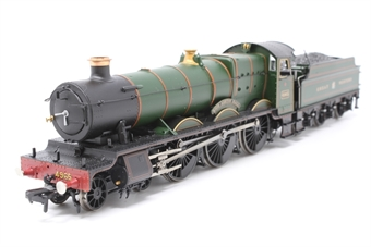 """30-525loco-PO08 Class 49xx 'Hall' 4-6-0 4965 """"Rood Ashton Hall"""" in Great Western green - split from 30-525 set - Pre-owned - DCC fitted - Warped buffer"""