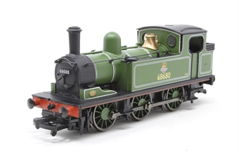 31-055-PO05 Class J72 0-6-0T 68680 in BR lined green livery with early emblem - Pre-owned - jerky runner due to bent axle, scratched paintwork
