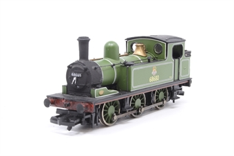 31-055-PO07 Class J72 0-6-0T 68680 in BR lined green livery with early emblem - Pre-owned - slightly noisy runner - detailed with real coal - cab roof repainted - imperfect box