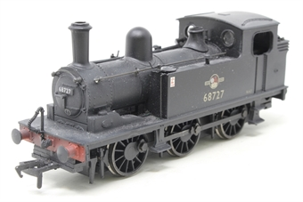 31-058-PO02 Class J72 0-6-0T 68727 in BR black with late crest (weathered) - Pre-owned - detailed with coal and crew, glue marks on cab door and dome