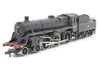 31-100-PO01 Standard Class 4MT 4-6-0 75014 with BR2 tender in BR black with early emblem - Pre-owned - marks on running plate