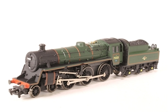 31-101-PO02 Standard Class 4MT 4-6-0 75023 with BR2 tender in BR green with late crest - Pre-owned - poor runner, slow and jerks when running - does not run in reverse