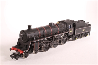 31-102-SAS07 Standard Class 4MT 4-6-0 75073 with BR1B tender in BR lined black with early emblem - Pre-owned - sold as seen - wobbly runner, bent drive gear, replacement box