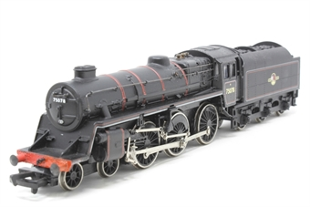 31-105-PO03 Standard Class 4MT 4-6-0 75078 with BR1B tender & double chimney in BR lined black with late crest - Pre-owned - loose valve gear - imperfect box