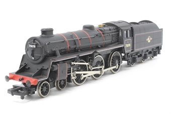 31-105-PO06 Standard Class 4MT 4-6-0 75078 with BR1B tender & double chimney in BR lined black with late crest - Pre-owned - wobbly runner - added crew