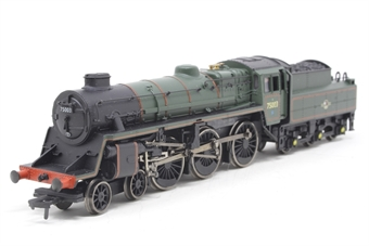 31-106A-PO03 Standard Class 4MT 4-6-0 75003 with BR2 tender & double chimney in BR lined green with late crest - Pre-owned - sold as seen - poor runner - DCC fitted