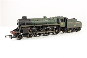 31-106A Standard Class 4MT 4-6-0 75003 with BR2 tender & double chimney in BR lined green with late crest