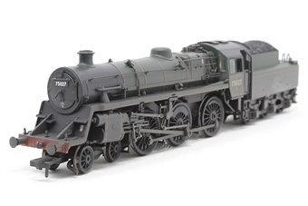 31-115-PO06 Standard Class 4MT 4-6-0 75027 with BR2 tender in BR lined green with late crest (weathered) - Pre-owned - DCC fitted - poor box