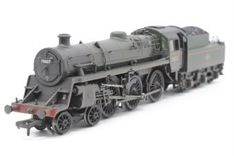 31-115-PO07 Standard Class 4MT 4-6-0 75027 with BR2 tender in BR lined green with late crest (weathered) - Pre-owned - Like new
