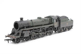 31-115-PO08 Standard Class 4MT 4-6-0 75027 with BR2 tender in BR lined green with late crest (weathered) - Pre-owned - DCC Sound-fitted - smoke box door loose (in the box) - imperfect box