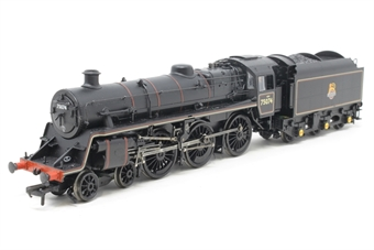 31-117DC-PO06 Standard Class 4MT 4-6-0 75074 in BR lined black with early emblem. DCC Fitted - Pre-owned - damaged step, replacement box