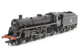 31-117DC-PO11 Standard Class 4MT 4-6-0 75074 in BR lined black with early emblem. DCC Fitted - Pre-owned -   imperfect box