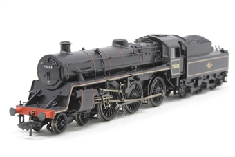 31-118-PO03 Standard Class 4MT 4-6-0 75033 with BR2 tender in BR lined black with late crest - Pre-owned -  DCC fitted - missing step - missing drain tap