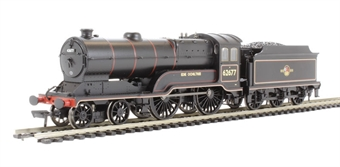 """31-136DC Class D11/2 4-4-0 62677 """"Edie Ochiltree"""" in BR black with late crest - DCC Fitted"""