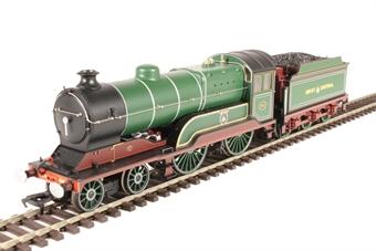 """31-147 Class D11/1 4-4-0 501 """"Mons"""" in GCR green"""