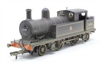 31-167DC-PO12 Class 5 L&YR 2-4-2T 50795 in BR lined black with early emblem (weathered). DCC Fitted - Pre-owned - Like new