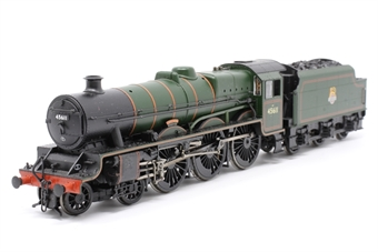 "31-175-PO15 Class 5XP Jubilee 4-6-0 45611 ""Hong Kong"" in BR green with early emblem - Pre-owned - glue mark on cylinder - real coal load - imperfect box"
