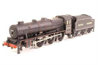 """31-250-SAS01 Rebuilt Jubilee Class 4-6-0 45735 """"Comet"""" in BR black - Pre-owned - sold as seen - Non runner -front pony weels broken off - broken detailing £25"""