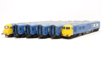 31-256DC-PO Class 251 Blue Pullman 6-car Midland set in Nanking blue with full yellow ends. DCC Fitted - Pre-owned - Lights do not come on in one coach