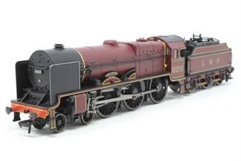 """31-281-PO03 Parallel boiler Royal Scot 4-6-0 6155 """"The Lancer"""" in LMS crimson with 3500 gallon tender - Pre-owned - Like new"""