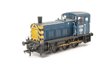 31-362-PO03 Class 03 Shunter 03066 in BR Blue with Wasp Stripes & Air Tanks - Pre-owned - weathered - wobbly runner
