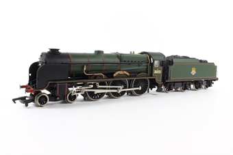 31-402 Lord Nelson Class 4-6-0 30851 'Sir Francis Drake ' in BR Green with Early Emblem