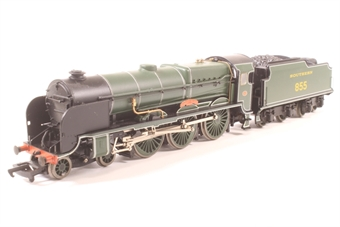 31-404-PO01 Lord Nelson Class 4-6-0 855 'Robert Blake' in SR Maunsell Green- Pre-owned - detailed- with added crew