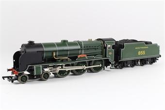 31-404 Lord Nelson Class 4-6-0 855 'Robert Blake' in SR Maunsell Green