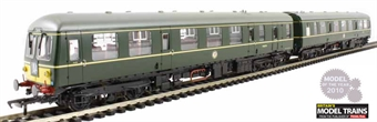 31-537 Class 105 Cravens 2 Car DMU in BR green with half yellow ends (Power Twin Unit)