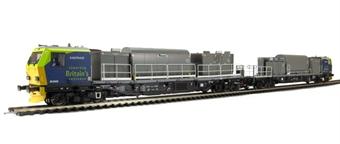 31-577 Windhoff MPV Multi-Purpose master and slave units in 'Railtrack' livery