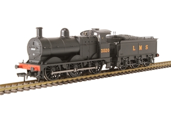 31-627B Class 3F 0-6-0 3520 in LMS black with Deeley tender