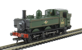 31-637 Class 64xx 0-6-0 Pannier Tank 6412 in BR lined green with late crest
