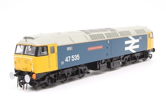 31-650-PO08 Class 47/4 47535 'University Of Leicester' in BR Blue with Large Logo - Pre-owned - DCC Sound-fitted- detailed buffer beam- etched nameplates- imperfect box