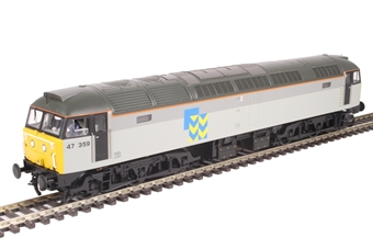 31-662 Class 47/3 47359 in BR Railfreight Metals sector triple grey