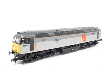 """31-663-PO01 Class 47/0 47209 """"Herbert Austin"""" in Railfreight Distribution Sector - Pre-owned - DCC fitted, marsk on roof, imperfect box"""