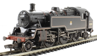 31-979A Standard Class 3MT tank 82001 in BR black with early emblem - weathered