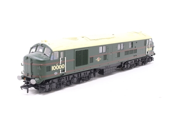 31-995-PO06 Class D/16 LMS 10000 in BR Brunswick Green Lined Orange & Black - Pre-owned - DCC Sound-fitted - minor marks and discolouration to roof - broken handrails on one side