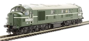 31-996 Class D/16 LMS 10000 in BR Brunswick Green with Part Eggshell Blue Waistband