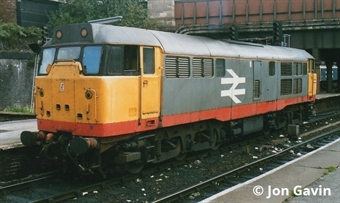 3121 Class 31/1 in Railfreight red stripe livery - unnumbered